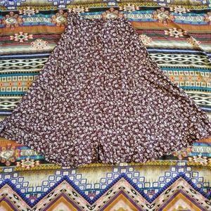90s A-line grunge skirt